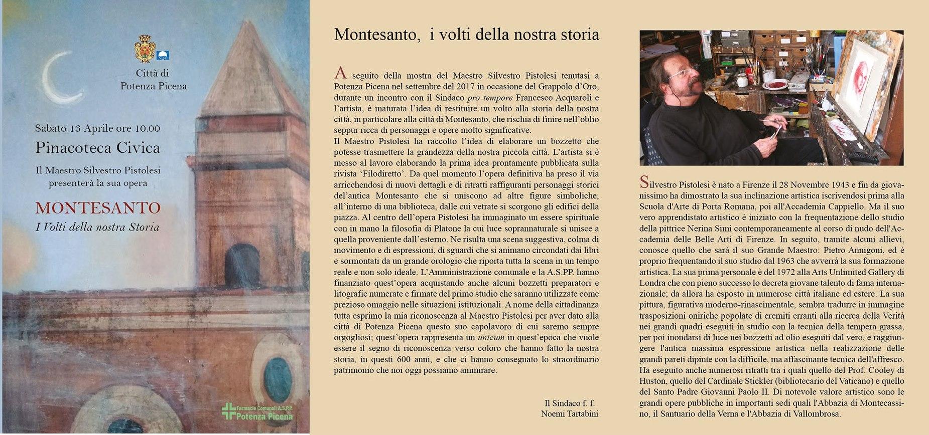 Presentazione Opera Aristica Silvestro Pistolesi